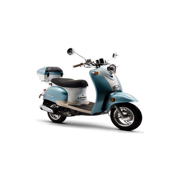50cc BMS Federal 4-Stroke, Gas Powered Moped Scooter ❤ liked on Polyvore featuring transportation