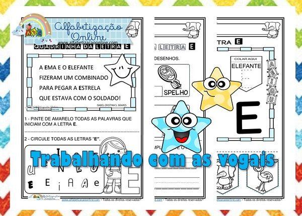 As Atividades De Alfabetizacao Infantil Letra E Pode Ser
