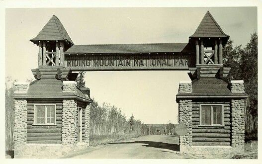 Riding Mountain National Park East gate Manitoba