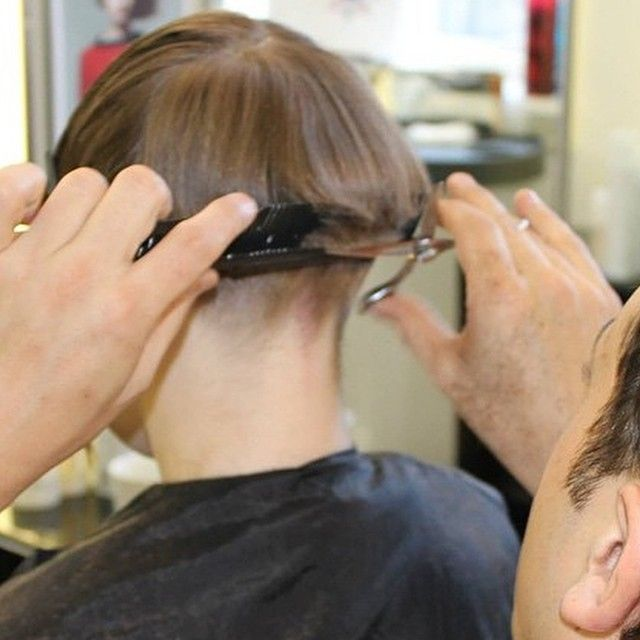 shaved nape images  pinterest hair dos shaved nape  angle bob