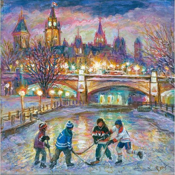Ottawa Game by Elena Khomoutova, Oil on Canvas, Painting   Koyman Galleries