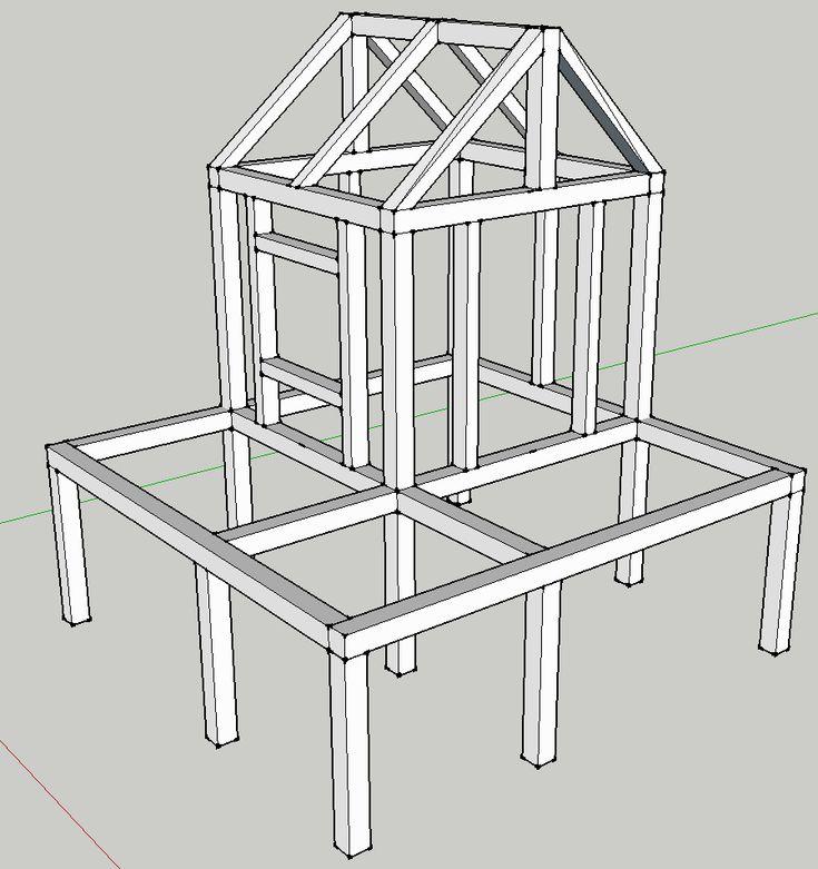 Cabane pour enfant sur pilotis   Cabane enfant, Plan cabane enfant, Plan cabane en bois
