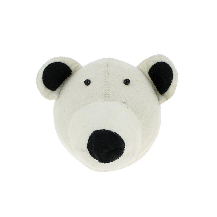 Fiona Walker England Polar Bear Head Wall Decor for Kids - ON BACKORDER