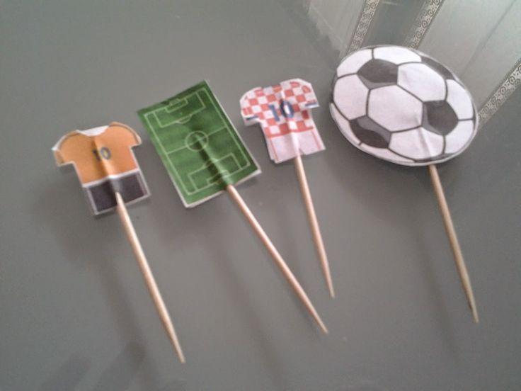 Bandierine per panini a tema calcio