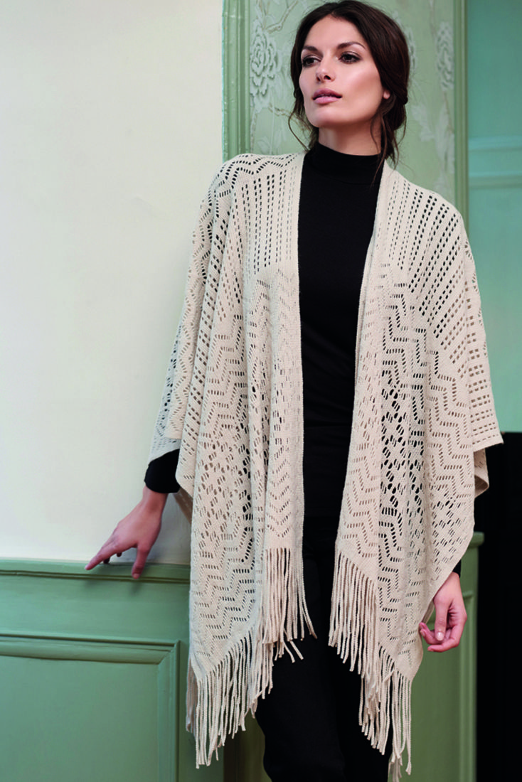 soyaconcept - shawl, blouse knit - poncho