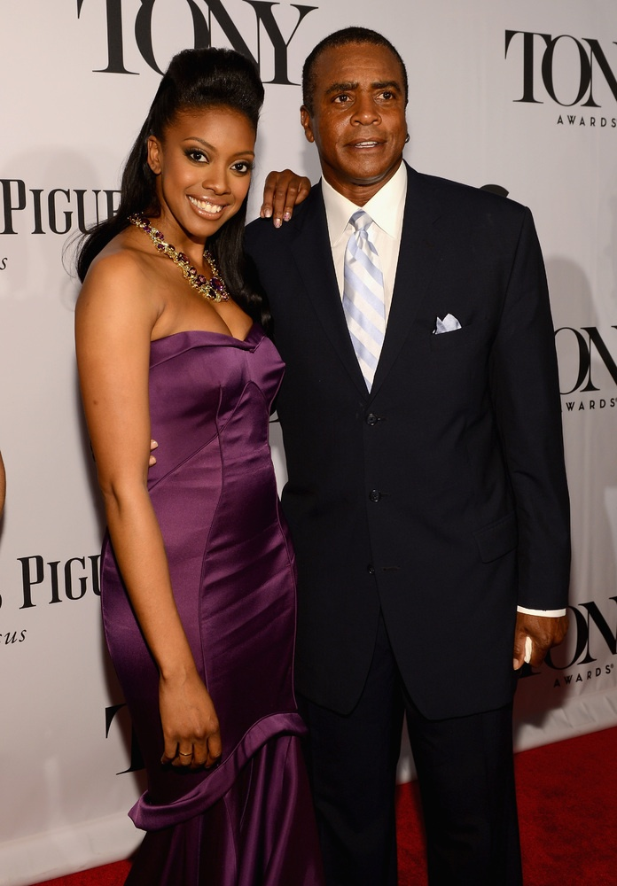 Condola Rashad and her dad Ahmad Rashad at  2013 Tony Awards Red Carpet (PHOTOS)