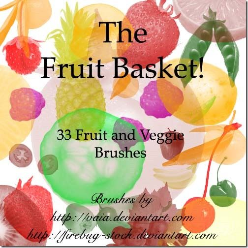 500 Fruits And Vegetables Photoshop Brushes Free Download