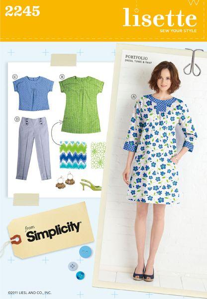 portfolio dress, tunic & pant sewing pattern