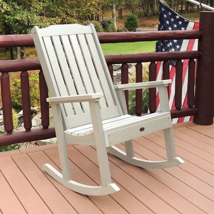 Outdoor highwood Lehigh Recycled Plastic Rocking Chair - AD-RKCH1-WAE