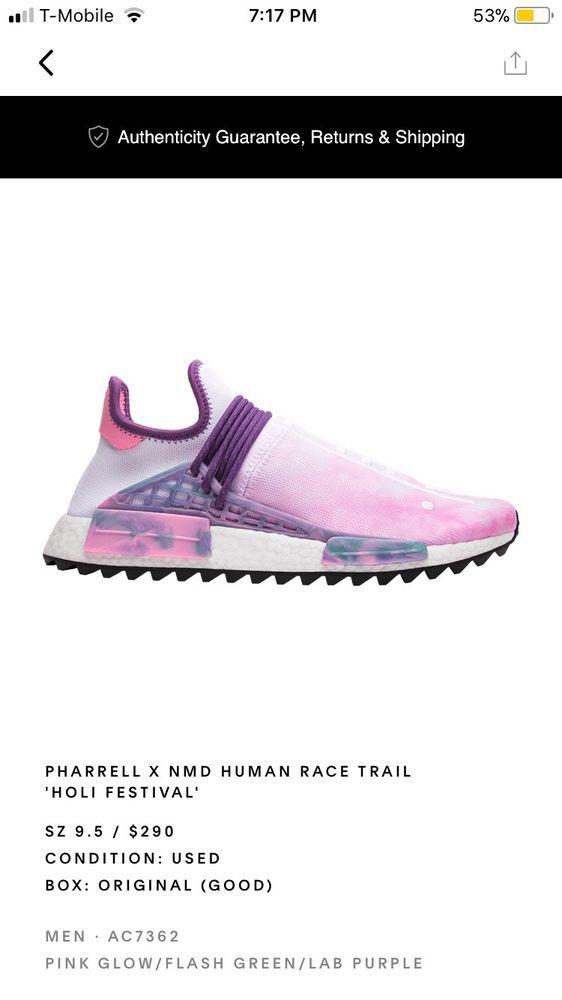 sale retailer f609b b2acf Pharrell Williams Adidas Human Race NMD Holi Festival Pink ...