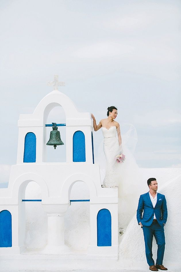 Post Ceremony Photo Session in a Greek Chapel - by Stella And Moscha - Photography by Thanos Asfis & Yiannis Alefantou Wedding in Santorini