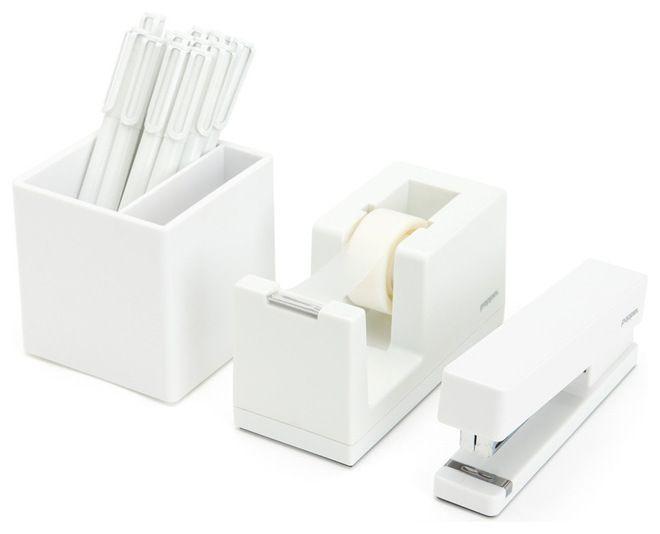 modern white desk accessories