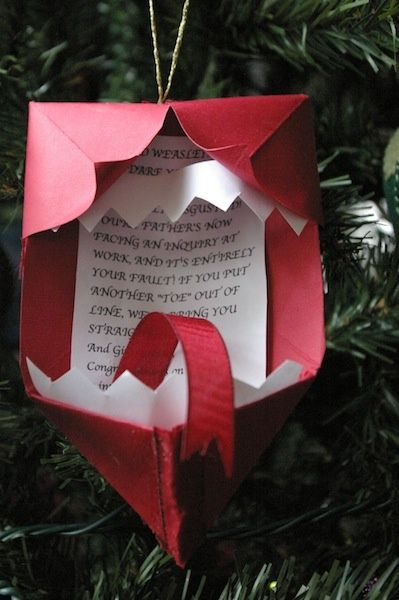 Howler Christmas ornament!! I'm totally making this!!