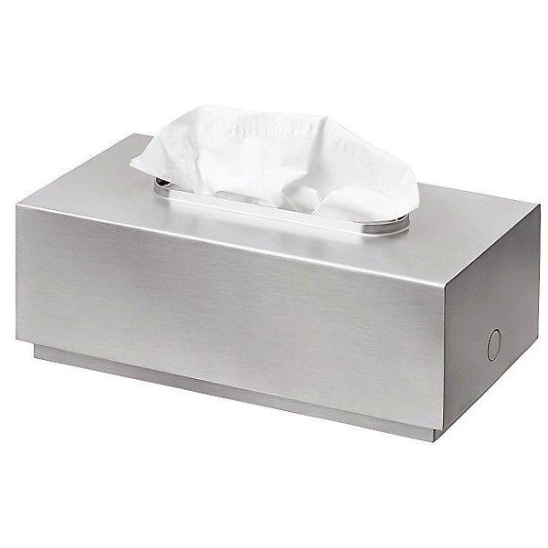 Blomus PRIMO Tissue Box found on Polyvore featuring home, bed & bath, bath, bath accessories, silver, tissue box, tissue box holder, contemporary bathroom accessories, blomus bathroom accessories and blomus