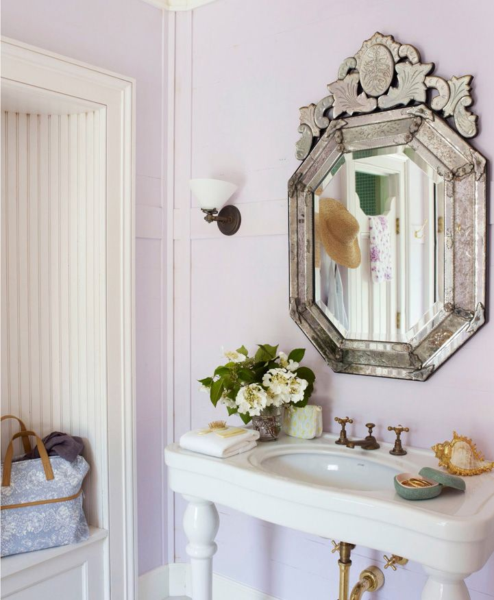 Downton Abbey Powder Room Decor