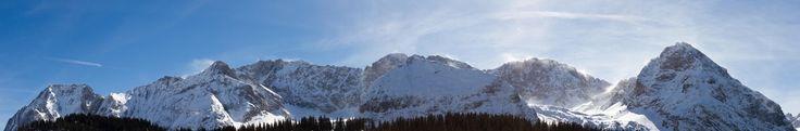 the alps in ehrwald, austria [oc] [12000x1990]