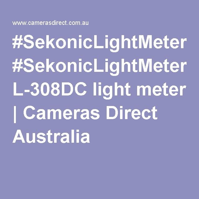 #SekonicLightMeter L-308DC light meter | Cameras Direct Australia