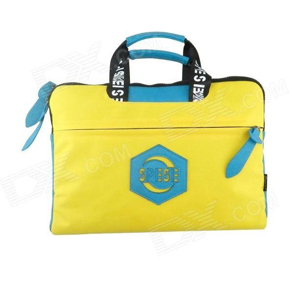 "LSS LSS-58 14"" Portable Nylon Laptop Bag - Yellow   Blue   Black Price: $16.43"