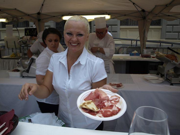 Salumi piacentini e piadina romagnola a Tramonto DiVino a Ferrara (17.07.2013))