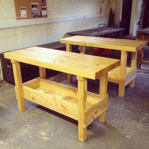 Just finished 2 #workbenches made from home grown #douglasfir...