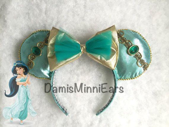 Disney Princess Jasmine inspired minnie ears/mickey ears. Check more styles in my etsy store! DamisMinniEars