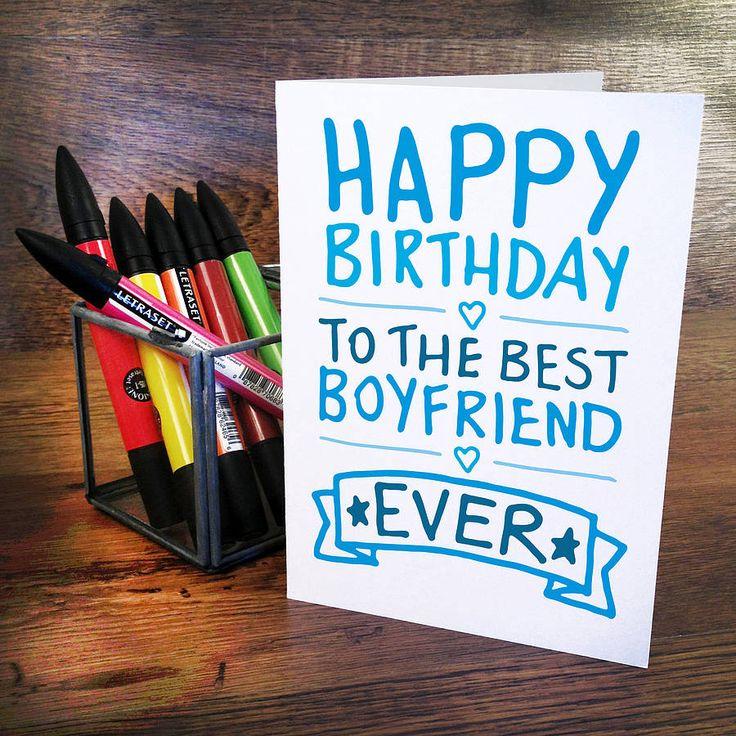 10 best birthday images – Boyfriend Happy Birthday Card