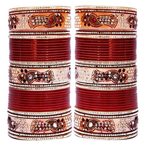 VVS Jewellers Bollywood Inspired Maroon Stone Chuda Brida... https://www.amazon.com/dp/B072LVF2CT/ref=cm_sw_r_pi_dp_x_uy6jzb8RB4DMW