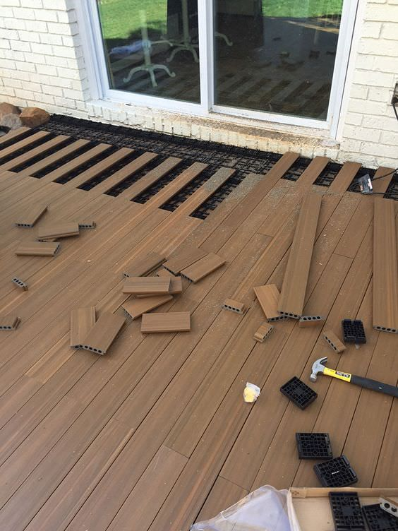 Lay decking over existing concrete yard - creative outdoor floor solutions