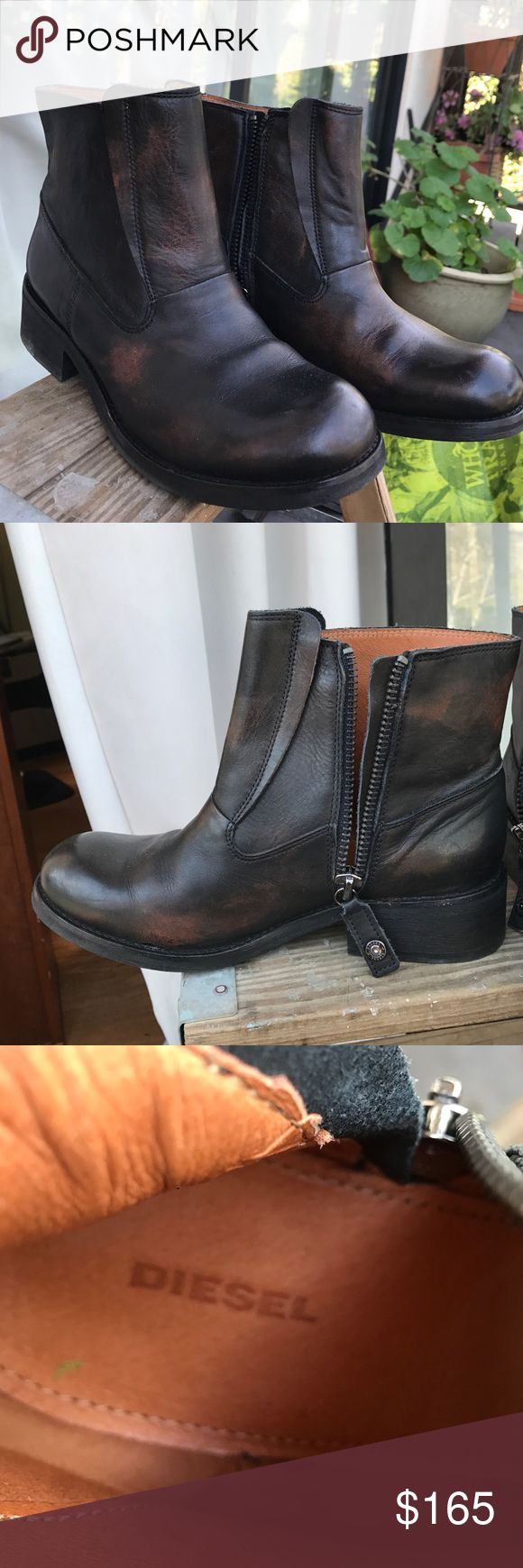 Diesel boots Brand new black and brown kind of antique finish ankle boot Diesel Shoes Ankle Boots & Booties