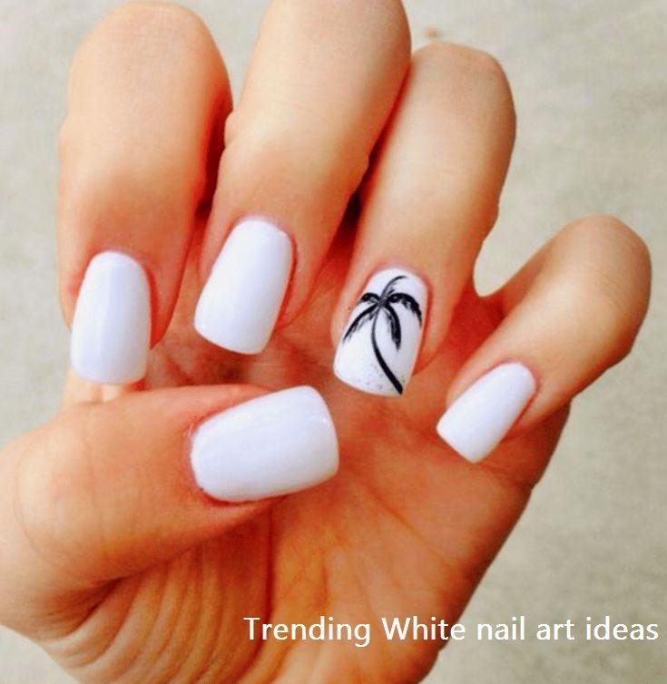 30 Simple Trending White Nail Design Ideas Nailart Tropical