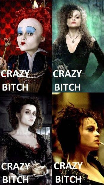 The many faces of Helena Bonham Carter...love her! She would be our group's official 'Teller of Scary Stories' around the fire!