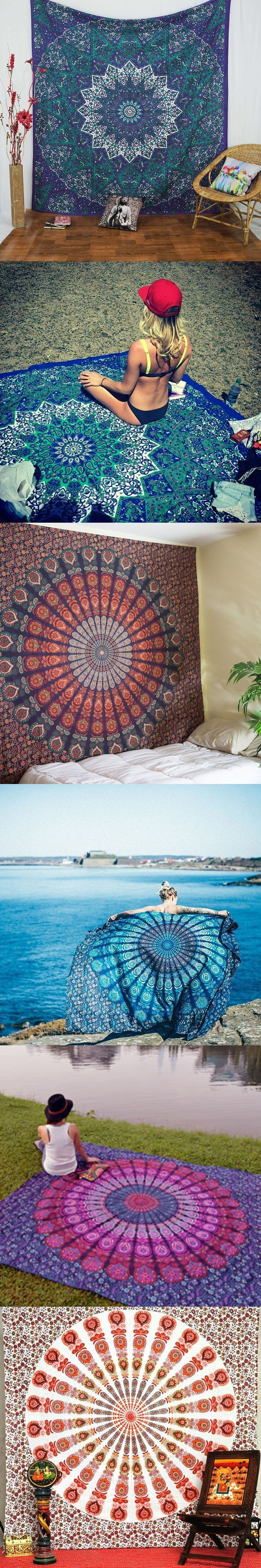 198 best hippie home decor images on pinterest boho gypsy indian mandala tapestry hippie home decorative wall hanging tapestries boho beac