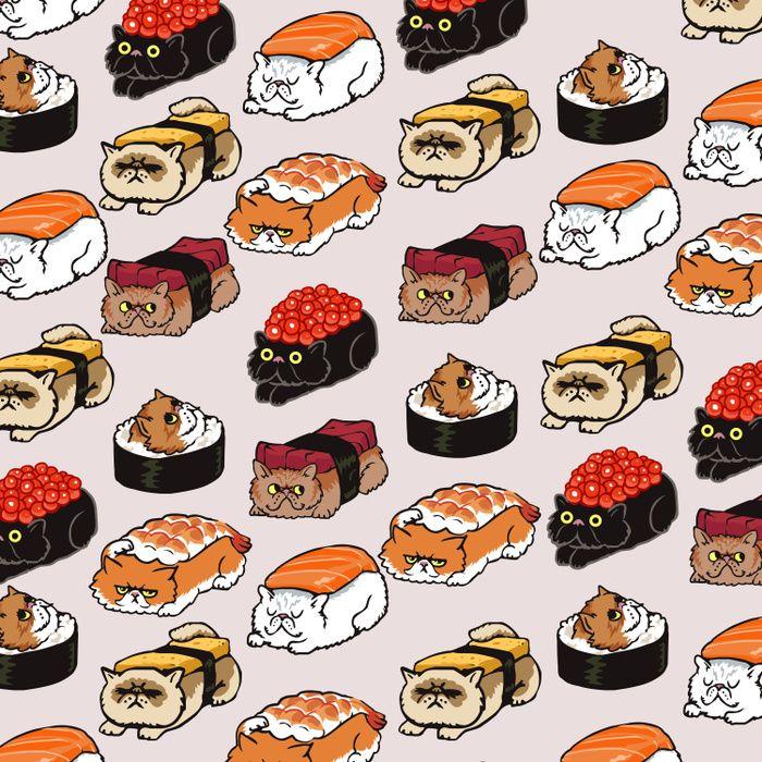 Sushi Persian Cat Comforters In 2019 Cat Wallpaper Super