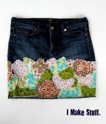 cute way to upcycle worn jeans!