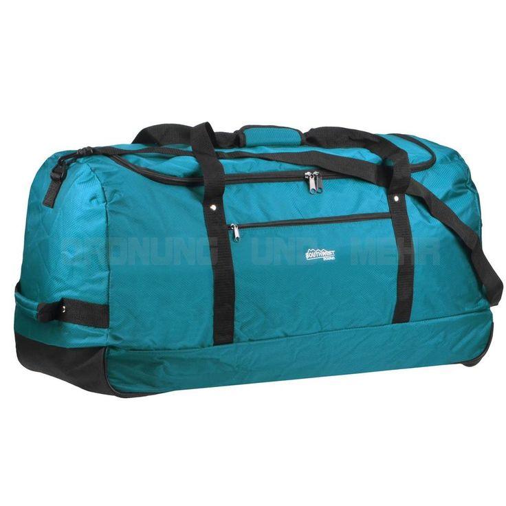 Reisetasche XXL Rollen faltbar Rollreisetasche 80 cm 110L Sporttasche petrol