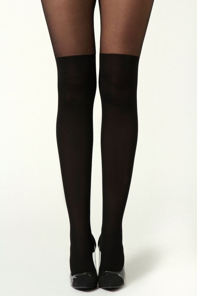 Over the Knee all Black Tights