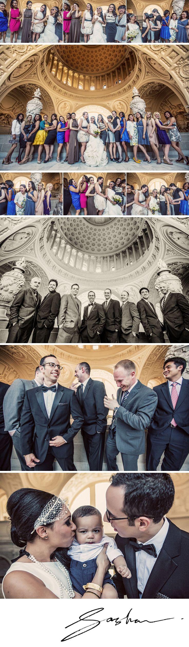 Lily and Jeff's SF City Hall wedding - fun portraits!!