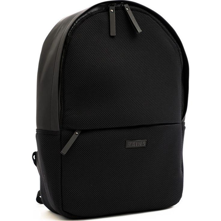 RAINS Waterproof Mesh Backpack Black   Sportique