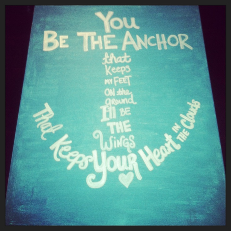 DIY Painted Anchor Canvas D I Used A Sharpie Paint Marker For The Words And Just