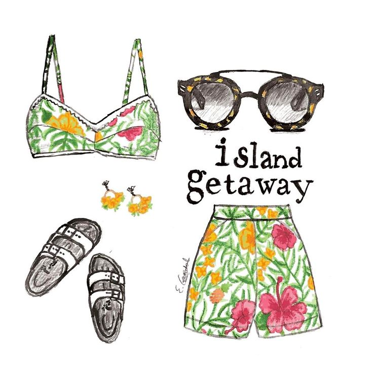 #fashionillustration #modeillustratie #summeroutfit #summerstyle #beachstyle