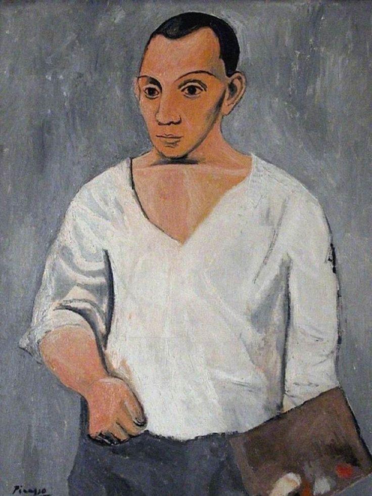 1- Pablo Picasso Autoportrait à la palette, 1906, Philadelphia Museum, Philadephia, The A.E. Gallatin Collection, 1950, Picasso