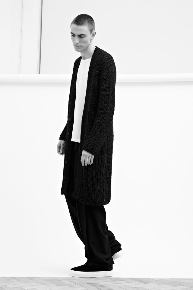 Yohji Yamamoto Men's Metallic Yarn Cardigan, Damir Doma Men's Poca Deep Pleats Pants, Eytys Unisex Suede Mother Sneakers