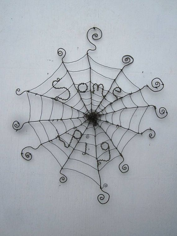 Charlotte's Web Inspired Barbed Wire Spider Web