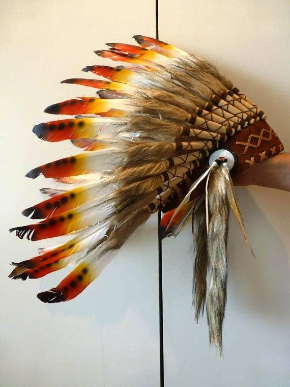 For Kid / Children three colors Chief indian by THEWORLDOFFEATHERS, $49.90