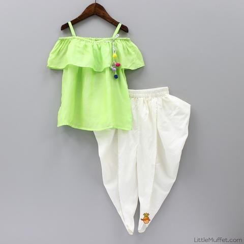Pre Order: Tulip Pant With Green Top
