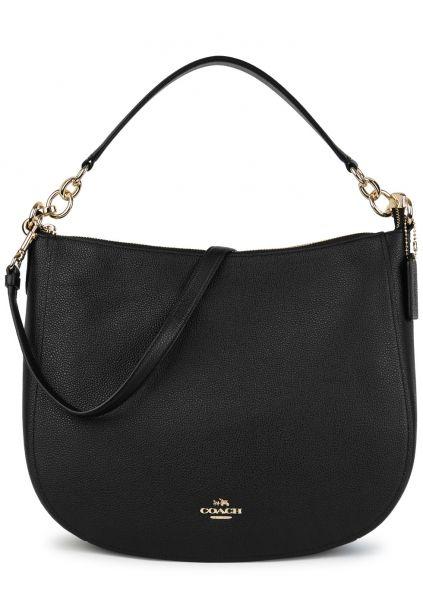 Coach Chelsea 32 black leather hobo bag - Harvey Nichols