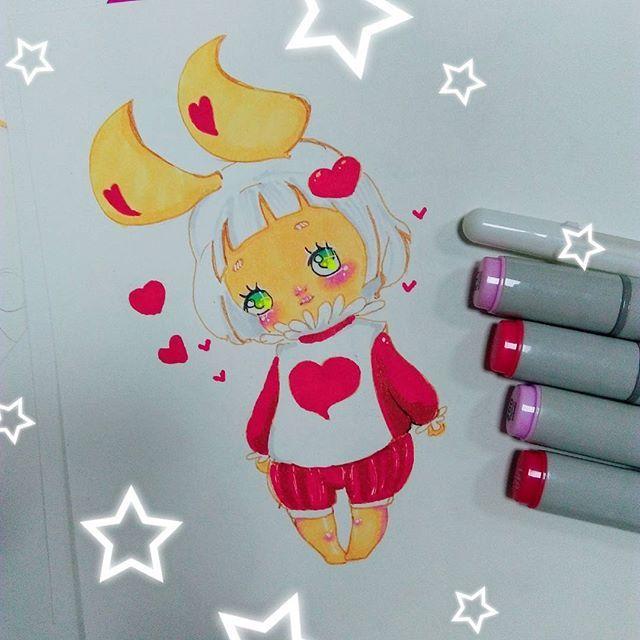 when you paint a rabbit who is shy❤❤❤ ٩(๑❛ᴗ❛๑)۶. #anime #chibi #instaanime #instaart #instadraw #instamanga #kawaii #cute #moe #manga #mangaart #mangastyle #copicart #copic #markers #copicmarkers #aliceinwonderland #whiterabbit #rabbit #banny #❤