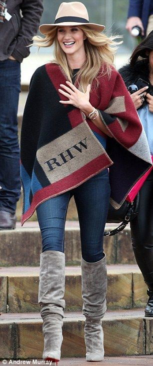 It's got my name on it! The personalised poncho was the highlight of the Burberry Prorsum ...