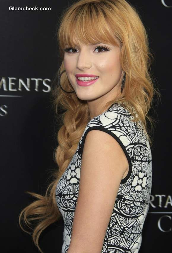 Bella Thorne Side Plait Hairstyle 2013