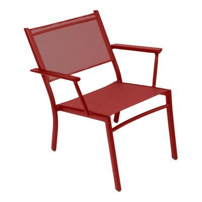 Fermob Costa Low Chair Finish: Chili